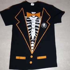 Skeleton glow in the dark t-shirt small
